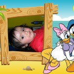 Fotomontaje infantil con el pato Donald