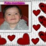Marco para fotos con corazones en Pizap.com