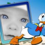 Marco para fotos  con el pato Donald