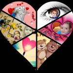 Crea un collage en forma de corazón