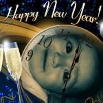 Fotomontaje alusivo a año nuevo