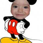 Fotomontajes de rostros con Mickey Mouse