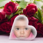 Fotomontaje gratis con rosas rojas