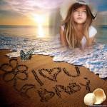 Fotomontajes con dedicatorias de amor en el mar