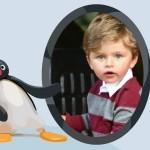 Marco para fotos infantiles con Pingu