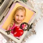 Marco para fotos por el Día de San Valentín