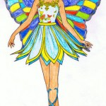 Fotomontaje en rostro de mariposa