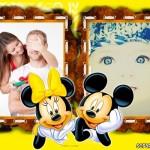 Fotomontaje de amor con Minie y Mickey Mouse