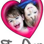 Fotomontaje de amor en un corazón
