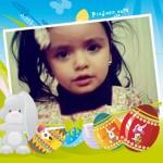 Desea Feliz Pascua con marcos de fotos