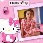 Marco para fotos infantil con Hello Kitty