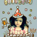 Tarjetas personalizables de cumpleaños