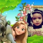 Marco para fotos de princesas para niñas