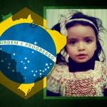 Fotomontaje con la bandera de Brasil