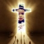 Fotomontaje por Semana Santa con una cruz