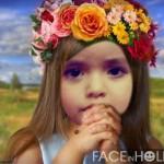 Fotomontajes infantiles en rostros de niñas
