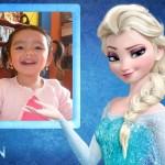 Marco infantil para fotos con Elsa de la película Frozen