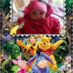 Marco para fotos infantil con Winnie Pooh