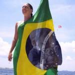 Fotomontaje con la Bandera de Brazil