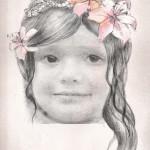 Fotomontaje de retrato con lápiz