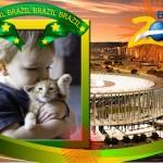 Fotomontaje del mundial Brasil 2014