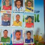 Fotomontaje en el álbum del Mundial 2014