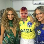 Fotomontaje en rostro de Pitbull Brasil 2014