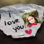 """Fotomontaje de amor con la frase """"I love you"""""""