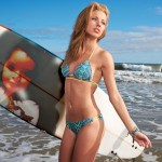Fotomontaje gratis con  una chica surfista