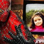 """Marco para fotos infantil con el """"hombre araña"""""""