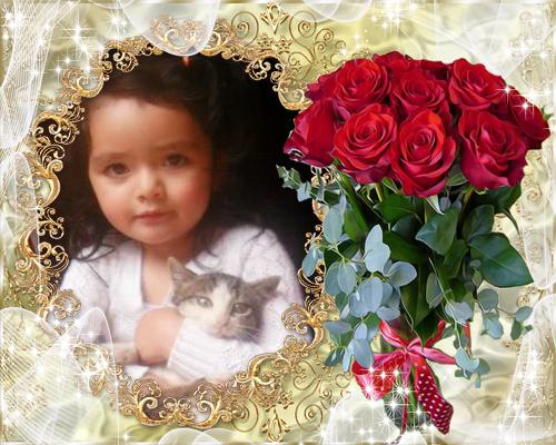 Fotomontaje Con Un Bello Ramo De Rosas Fotomontajes Gratis