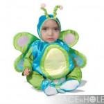 Fotomontaje infantil en disfraz de una mariposa