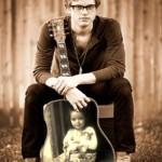 Fotomontaje en la guitarra de Cameron Mitchell
