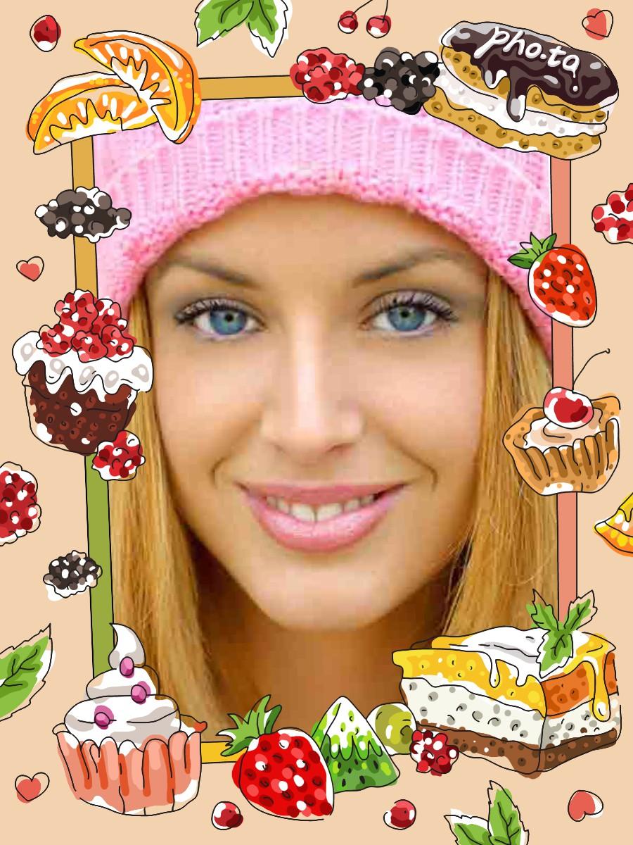 Marco Para Fotos De Cumpleaños Con Tortas Pequeñas