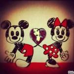 Fotomontaje de amor con Mickey y Minie