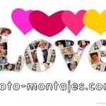 """Crea gratis collages con la palabra """"love"""""""
