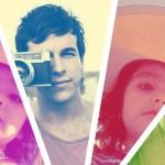 Collage colorido para cuatro fotos