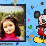 Marco de fotos infantil con Mickey Mouse