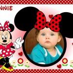 Tarjeta infantil con Minnie Mouse