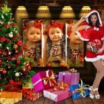 Fotomontaje navideño con una Mamá Noela