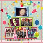 Fotomontaje de cumpleaños con 5 fotos