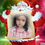 Fotomontaje en el saco de regalos de Papá Noel