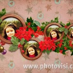 Collage navideño con varias fotos