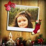Marco para fotos con adornos navideños