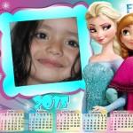 Fotomontaje en un calendario del 2015 con Frozen