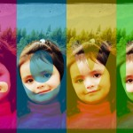 "Fotomontaje colorido con la palabra ""Love"""