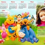 Fotomontaje en un calendario del 2015 de Winnie Pooh
