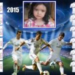Fotomontaje con el equipo del Real Madrid en un calendario 2015