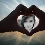 Fotomontaje de manos formando un corazón
