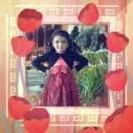 Marco para fotos con flores de tulipán rojos